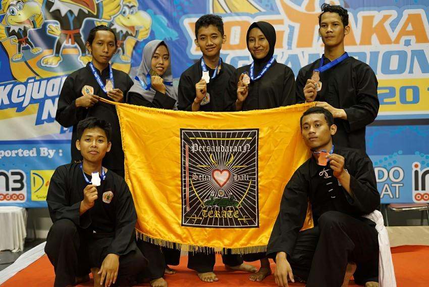 Pencak silat Amikom Yogyakarta meraih 7 Medali dalam kejuaraan nasional tahun 2019