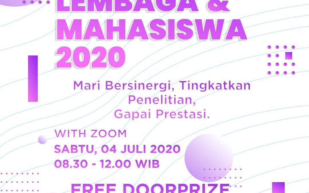 DIALOG LEMBAGA DAN MAHASISWA 2020