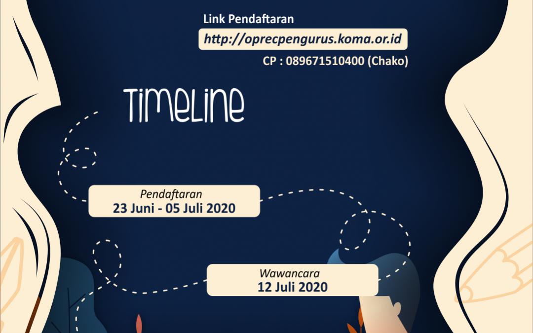 Open Rekruitmen Pengurus KOMA 2020/2021