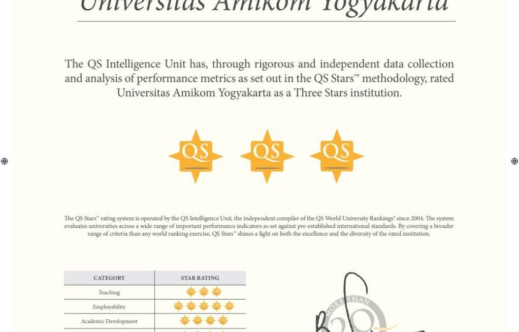 Raih Bintang 5 dalam Employability QS Star, Lulusan AMIKOM Sangat Tinggi terserap Dalam Dunia Profesional dan Bisnis