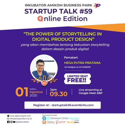 "Startup Talk #59 Online Edition : "" The Power of Storytelling in Digital Product Design. """
