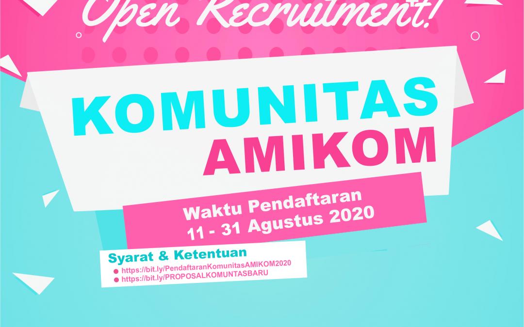 Open Recruitment Komunitas Amikom