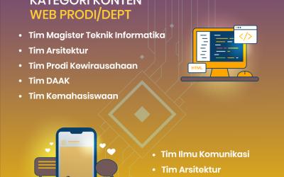 Website Pilihan dan Sosmed Pilihan tahun 2020/2021 Universitas AMIKOM Yogyakarta.