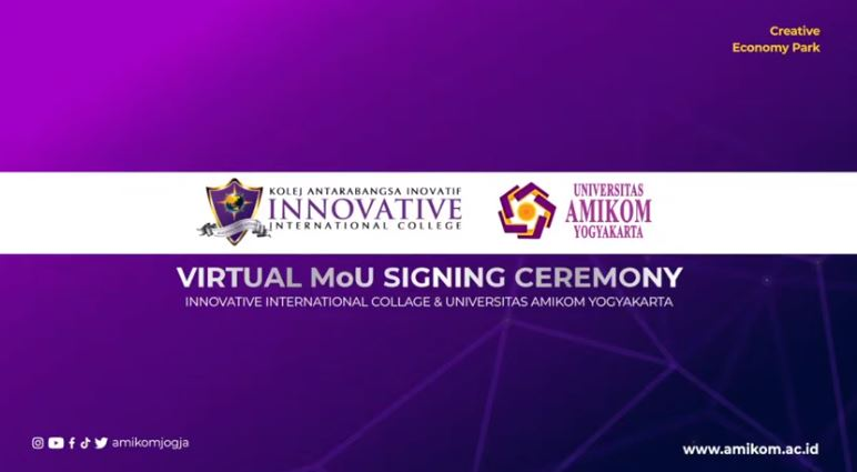 MoU Universitas Amikom Yogyakarta dengan Innovative International College (IIC) Malaysia