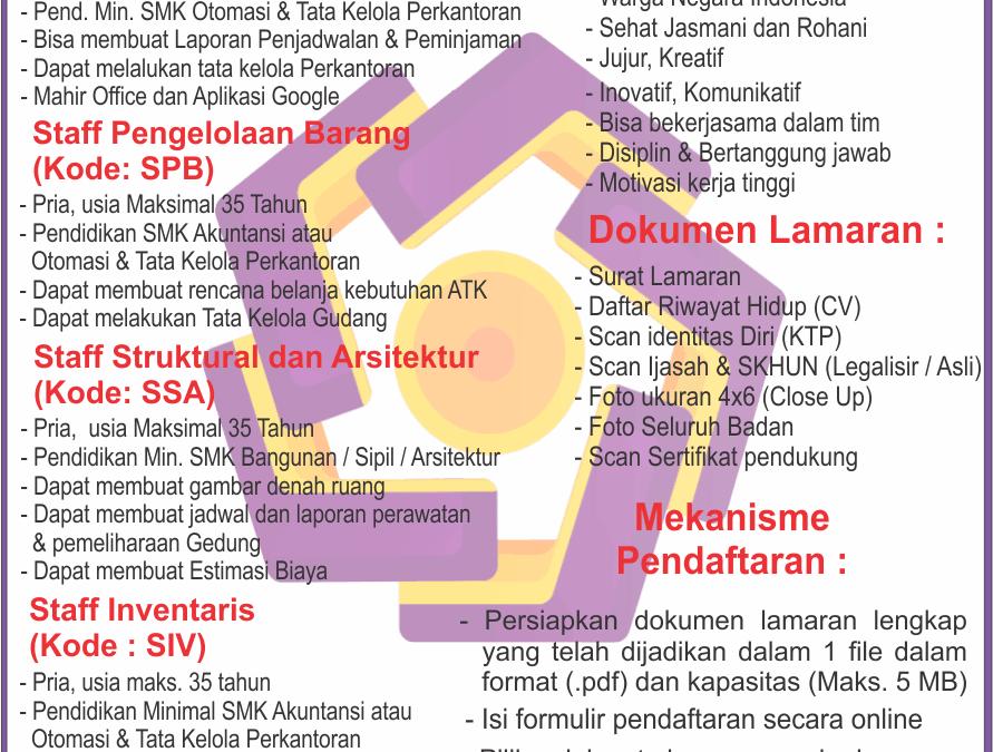 Rekrutmen Sarana Prasarana Universitas AMIKOM Yogyakarta